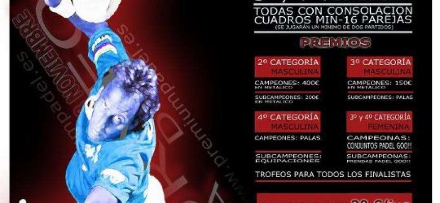 Atractivos premios en el I Torneo de pádel Gorki Selección en Rincón de la Victoria (Málaga)