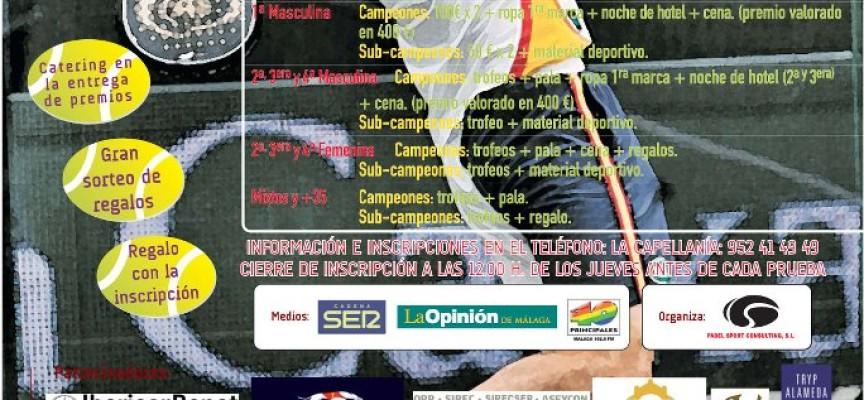 El club de Pádel La Capellanía (Alhaurín de la Torre) prepara el III Torneo de la temporada Otoño-Invierno 2011