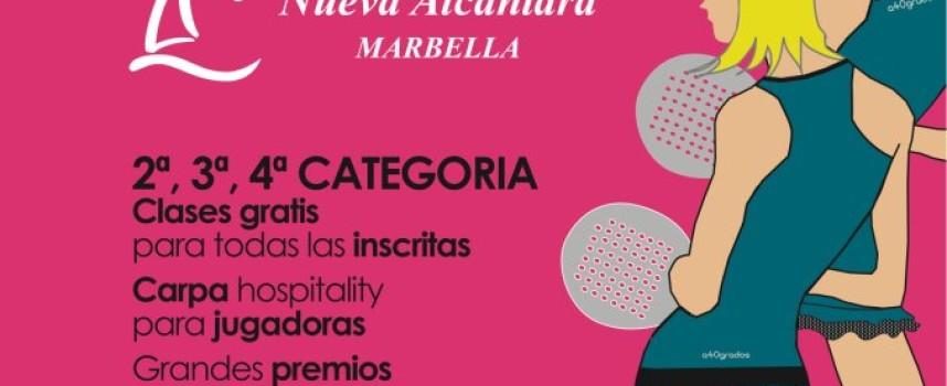 La firma A 40 grados le sube la temperatura al otoño con un Torneo de pádel femenino en Nueva Alcántara