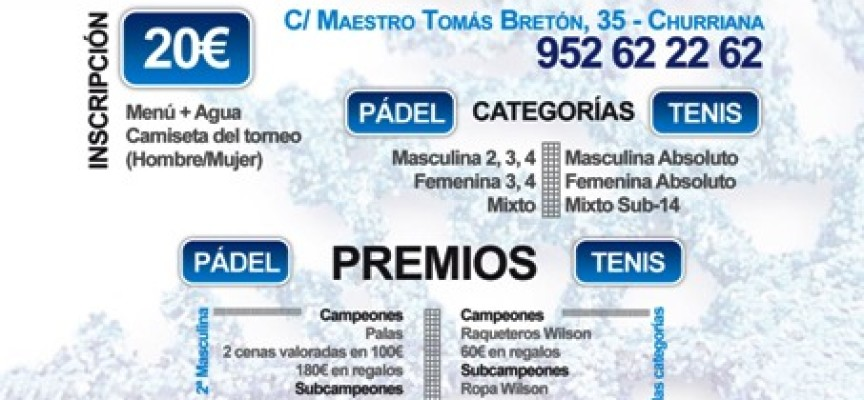 Nace el Torneo de Pádel y Tenis de Navidad en el Centro de Raqueta de Churriana
