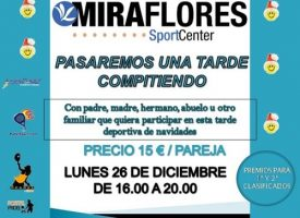 Pádel familiar por Navidad en el Miraflores Sport Center (Málaga)