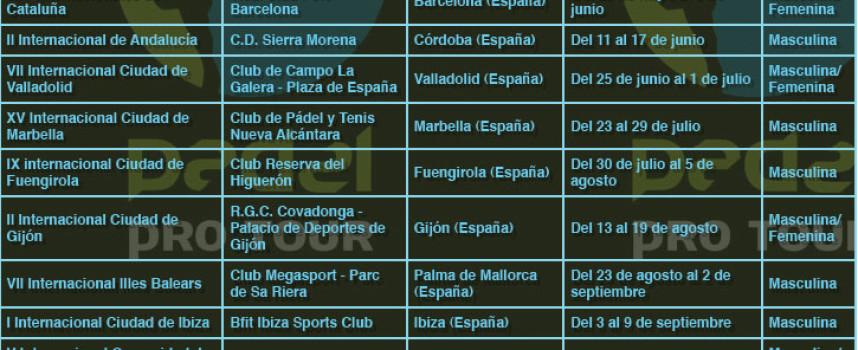 El Pádel Pro Tour volverá a la Costa del Sol en julio con las pruebas de Marbella y Fuengirola