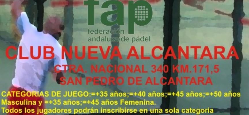 Nueva Alcántara (Marbella) acoge el Campeonato de Andalucía de Pádel Veteranos por Parejas 2012