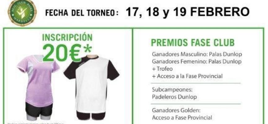 El Real Club de Pádel Marbella acogerá una fase del I Torneo Nacional de Pádel Kosports