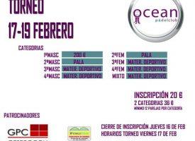 El Ocean Pádel Club prepara su torneo de febrero