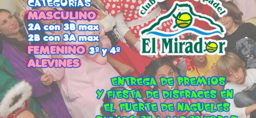 El Club de Pádel El Mirador (Marbella) organiza un torneo de carnaval para socios/as