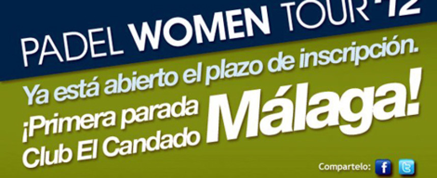 El club El Candado acoge la primera parada del Padel Women Tour 2012