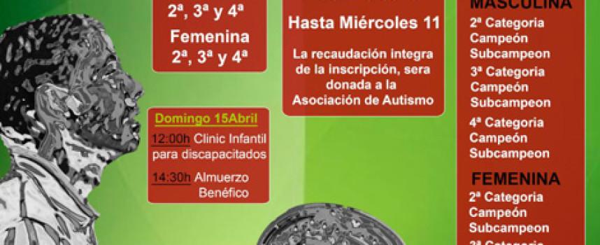 La Quinta acoge el I Open de Pádel Ciudad de Antequera a beneficio de la Asociación de Autismo