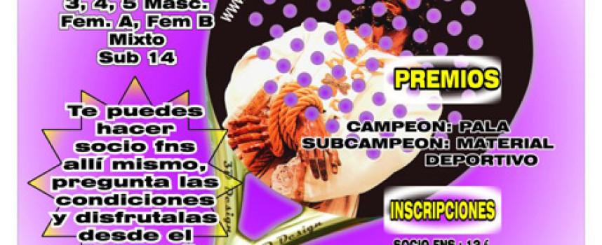 Pádel Coín La Trocha y fnspadel organizan un torneo express en Semana Santa