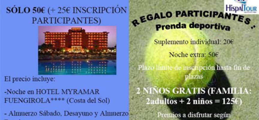 Hispaltour organiza un fin de semana de pádel y relax en Fuengirola