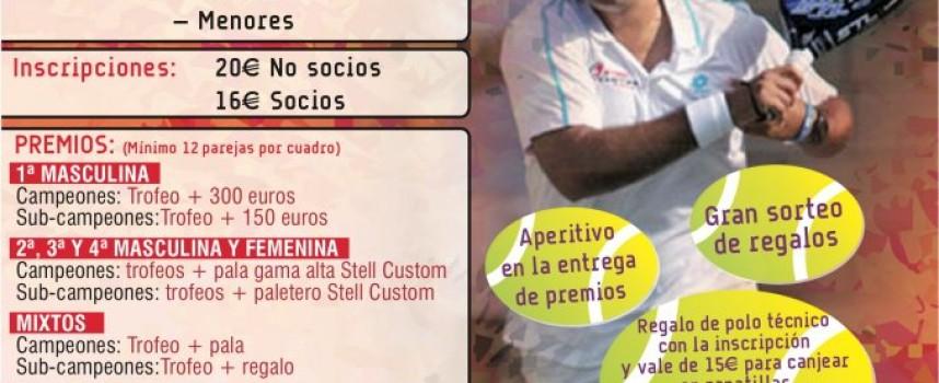 Steel Custom lleva uno de sus grandes torneos de pádel al club La Capellanía (Alhaurín de la Torre)