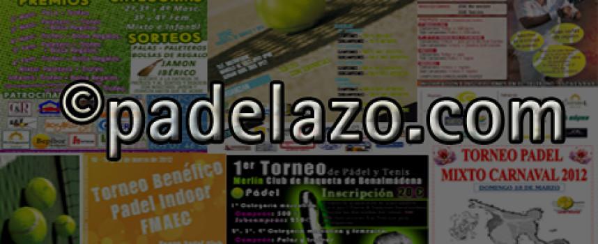 Seis torneos copan la agenda del pádel amateur este fin de semana en Málaga