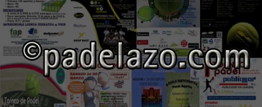 Ocho torneos iluminan la agenda del pádel amateur de la provincia de Málaga