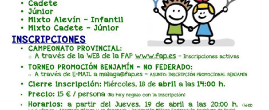 Málaga busca a sus mejores promesas del pádel con el Provincial de Menores en Marbella