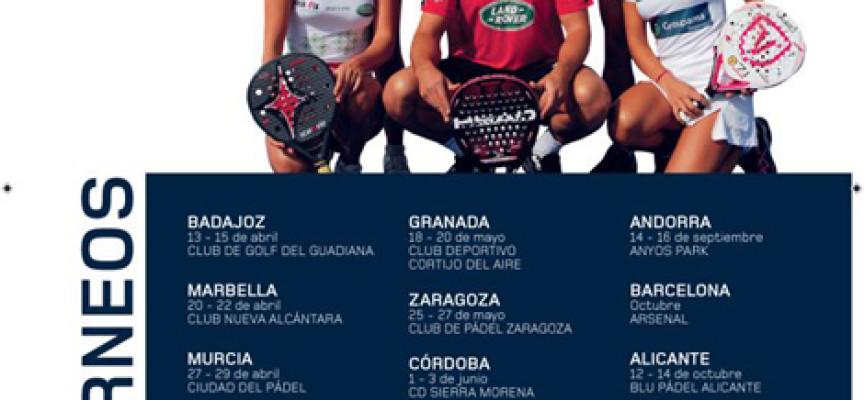 El circuito Land Rover Padel Tour traerá a Marbella un clínic con Juan Martín Díaz y Ale Salazar
