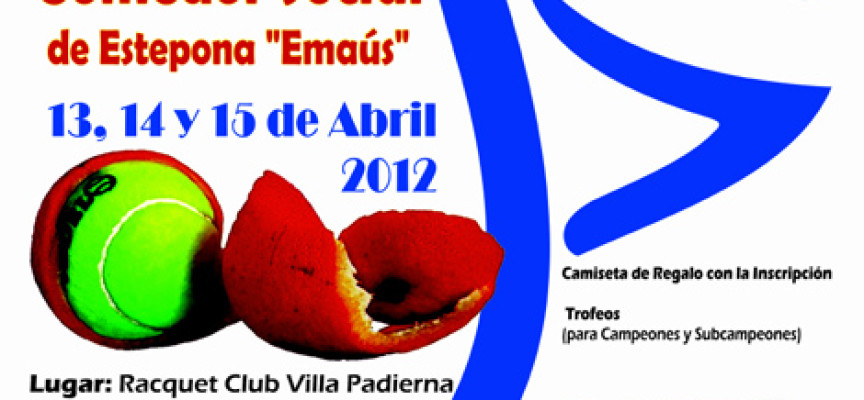 Pádel solidario en Estepona con el Torneo a beneficio del comedor social Emaús en Villa Padierna