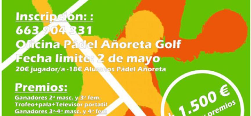El club de Pádel Añoreta Golf celebra su torneo atrasado de principios de mayo