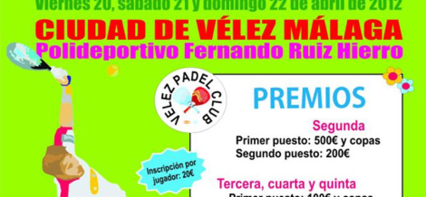 El Vélez Pádel Club da la bienvenida a la primavera con un gran torneo en abril