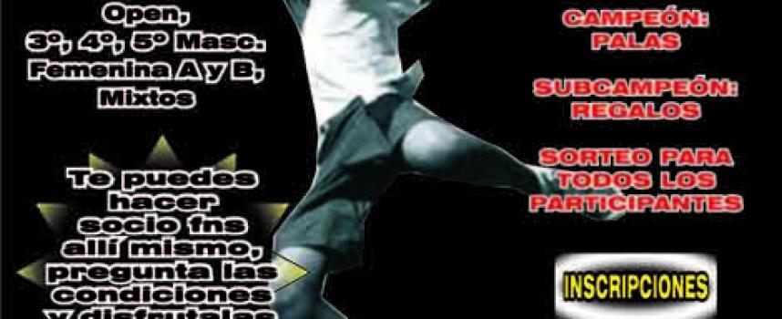 Fnspádel organiza un Torneo Express de Pádel para el Primero de Mayo en La Capellanía