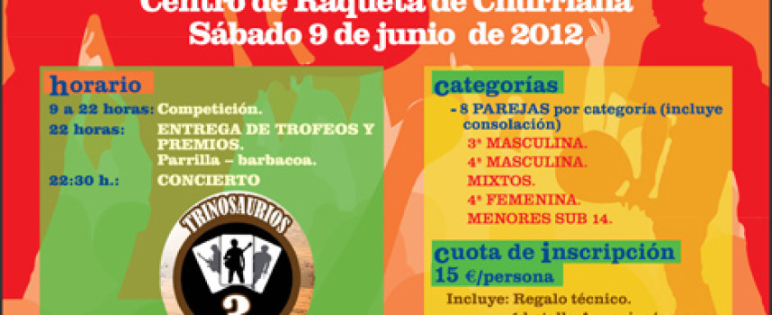 Deporte y música se dan la mano en el I Torneo Pádel Rock del Centro de Raqueta de Churriana