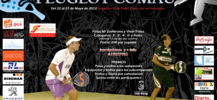 El Club de Pádel Costa del Sol Axarquía organiza el IV Torneo Peugeot Comau en Vélez Málaga