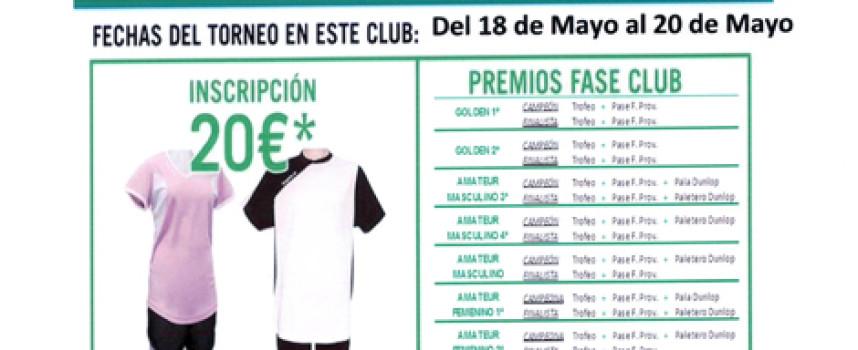 El club Calderón acogerá una de las pruebas del Torneo de Pádel Amateur KO Sports