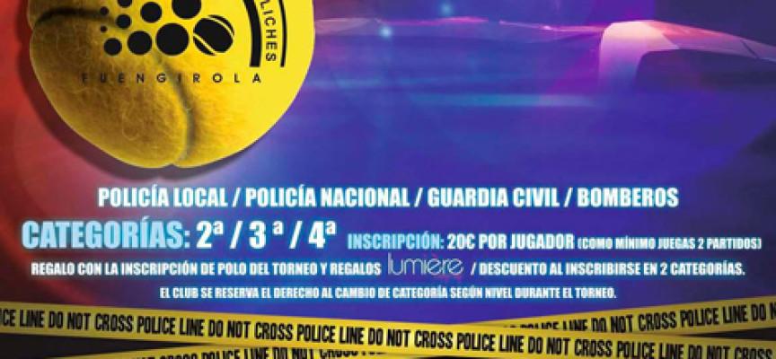 Policías y bomberos medirán fuerzas en su III Campeonato de Pádel de Andalucía en Fuengirola