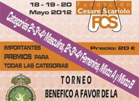 La Fundación Cesare Scariolo aplaza hasta septiembre su primer torneo de pádel en Marbella
