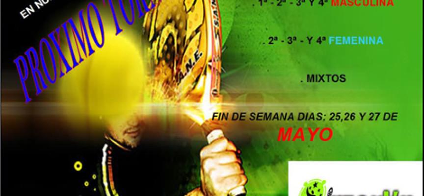El Club de Raqueta de Benalmádena ultima su próximo torneo para final de mayo