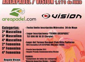 Areapádel y Vision organizan su VI Torneo de Pádel en Estepona