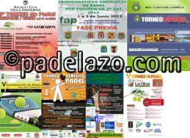 Siete competiciones llaman la atención del pádel amateur el fin de semana en Málaga