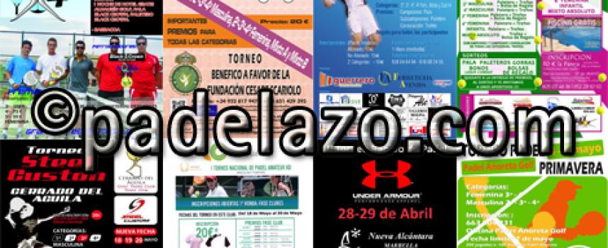 Ocho torneos suben la temperatura del pádel este fin de semana en la provincia de Málaga