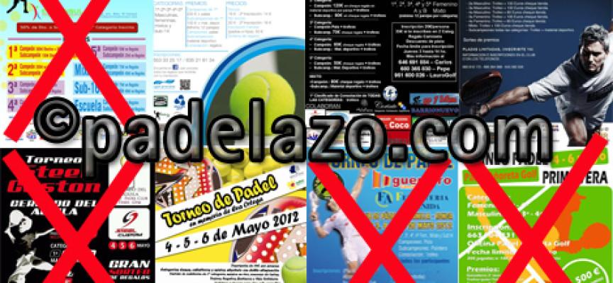 La amenaza de lluvia reduce a cuatro los torneos de pádel del fin de semana en Málaga