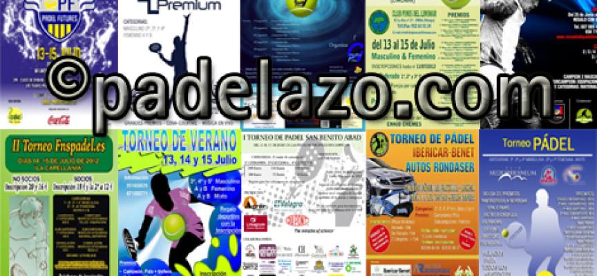 Once torneos de pádel agitan el fin de semana en la provincia de Málaga