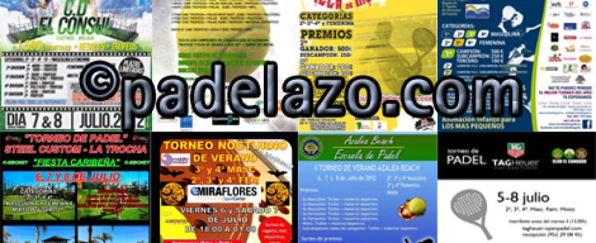 Ocho torneos de pádel combaten el calor estival en la provincia de Málaga
