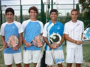 Finalistas 2ª masculina VII Torneo Pádel FMAEC club El Candado