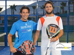 Guille Demianiuk y Rafa Mendez campeones final 1ª masculina torneo clinica dental plocher club los caballeros