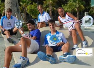 Cinco malagueños campeones de España de Pádel de Menores en 2012.