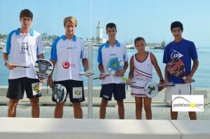 Cinco malagueños campeones de España de Pádel de Menores 2012