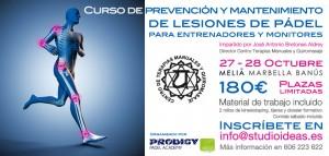 Curso prevencion lesiones padel Melia Octubre 2012