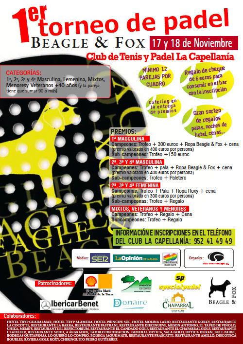 I Torneo de Padel Beagle & Fox en el club La Capellanía - 17-18 Noviembre Cartel-torneo-Beagle-Fox-noviembre-2012-capellania