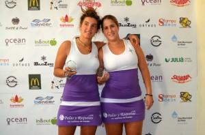 Marián de la Puente Alba Carrasco subcampeonas 3 femenina iv torneo padel custom comunicacion ocean padel octubre 2012