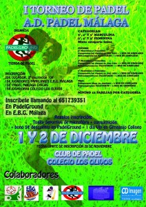 cartel torneo de padel ad padel malaga los olivos diciembre 2012