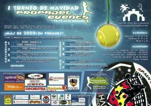 cartel torneo padel propadel events diciembre 2012