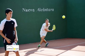 Jose Carlos Gaspar Campos y Manu Rocafort Lores padel cadete masculino campeonato andalucia padel menores nueva alcantara marbella 2012