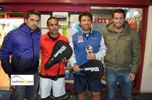 Naresh y Mario campeones 4 masculina torneo aniversario racket club fuengirola los pacos noviembre 2012