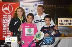 pablo valverde y alvaro jimenez padel campeones infantil a thb reserva higueron noviembre 2012