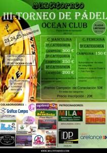 portada cartel torneo multitorneo ocean club noviembre 2012