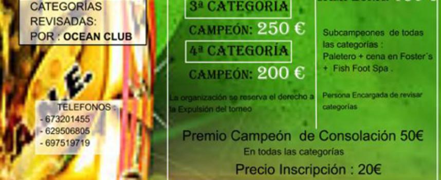 Multitorneo prepara su tercer torneo con premios en metálico hasta en consolación