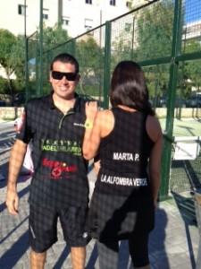 Adrián Allemandi con Marta P. Alfombra Verde Padelazo